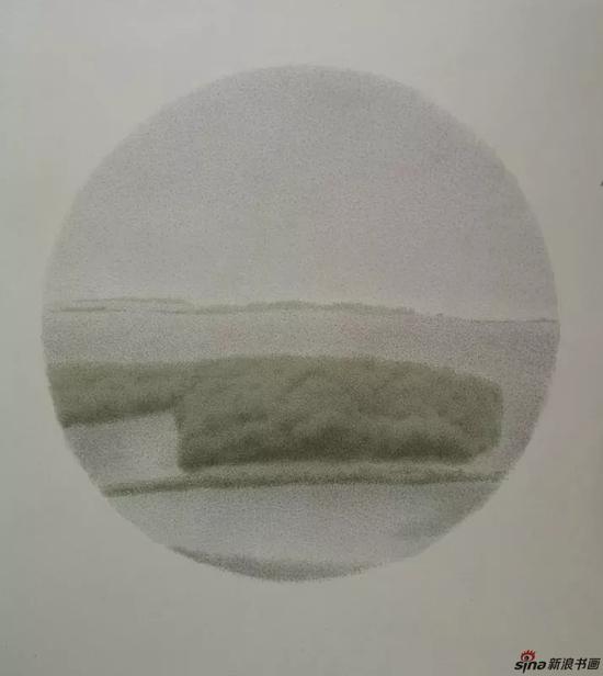▲格物应照 之一 直径73.5 cm 绢本