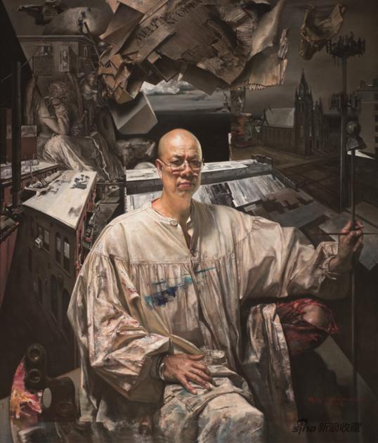 王玉琦 莱德霍克的幻想 布面油画 172.7x 147.3cm 2018年