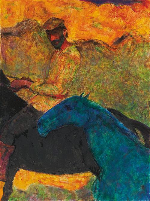 《马背上的塔吉克男人》 陈坚 2001年作