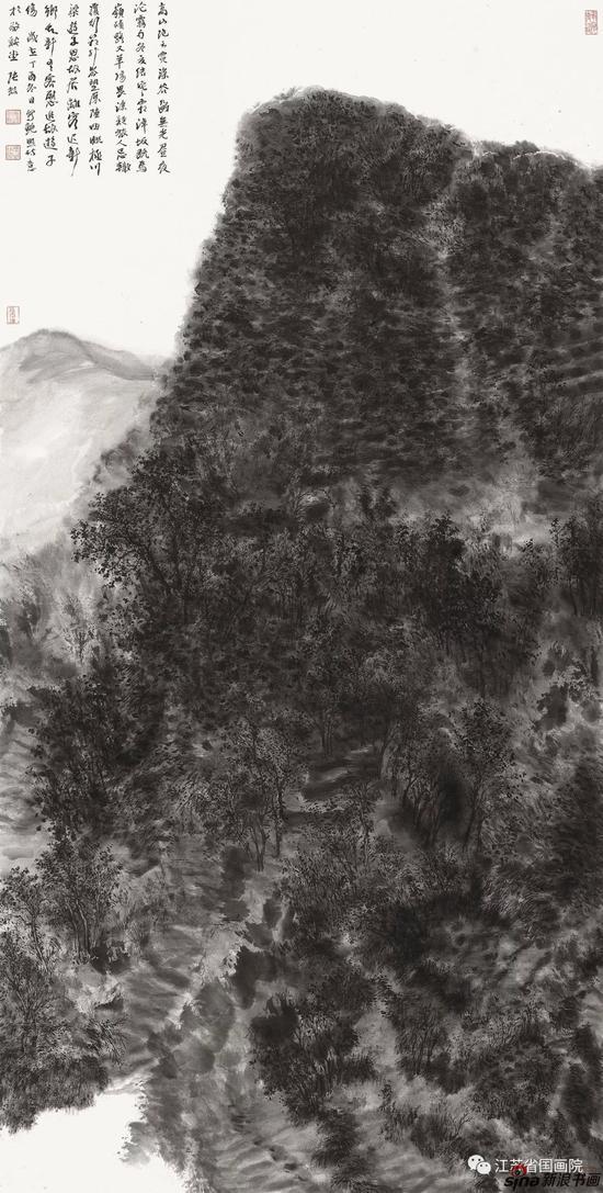 张喆 《山水之四》 138cm×70cm