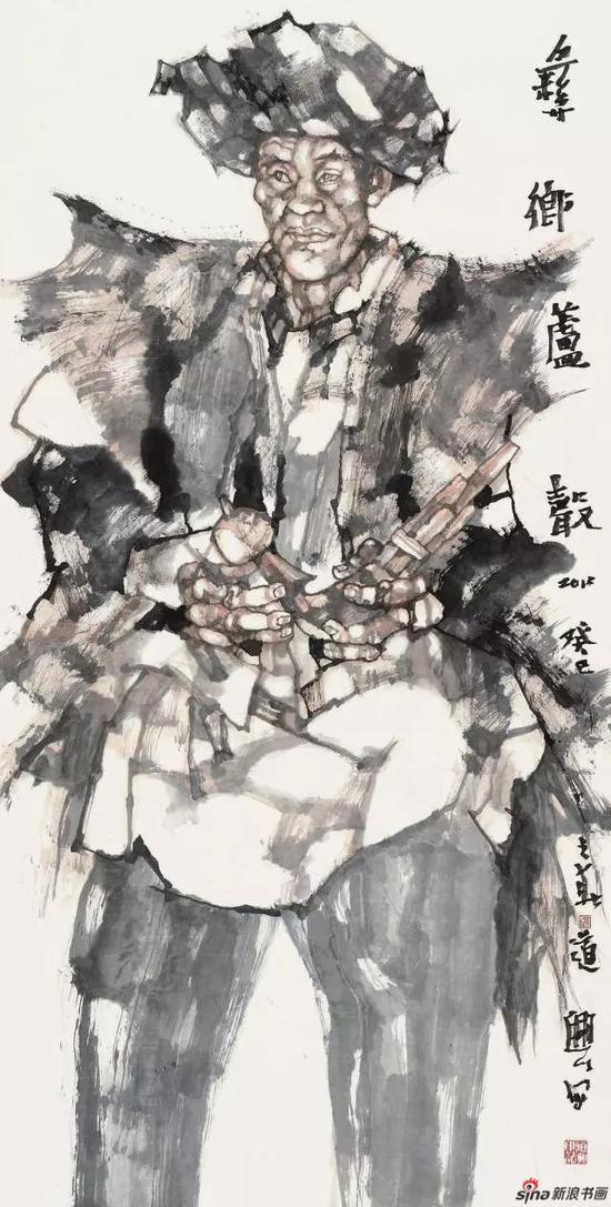 《彝乡芦声》 138cm x 70cm   张道兴