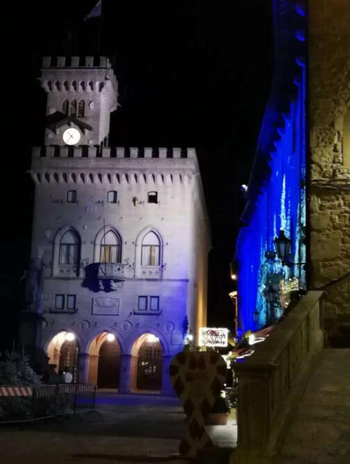 圣玛尼诺国夜景