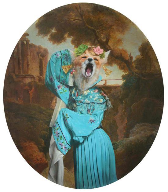 《女嫁》布面油画 90cmx77cm