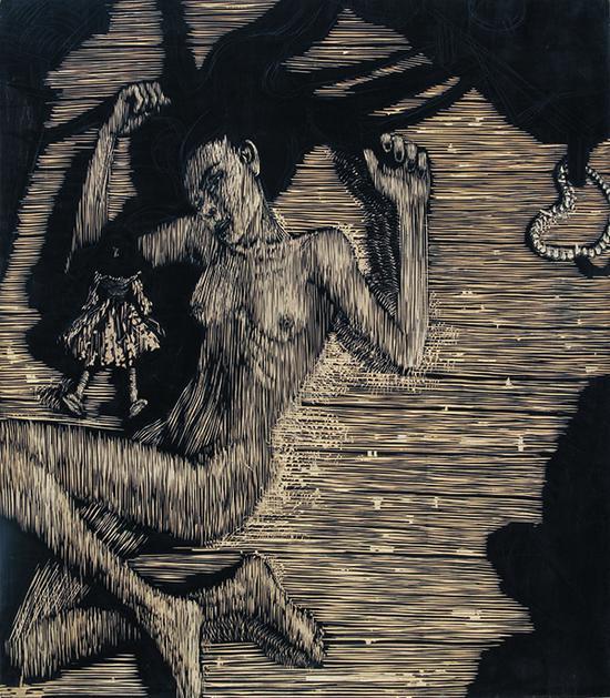 无题,90x90cm,2003