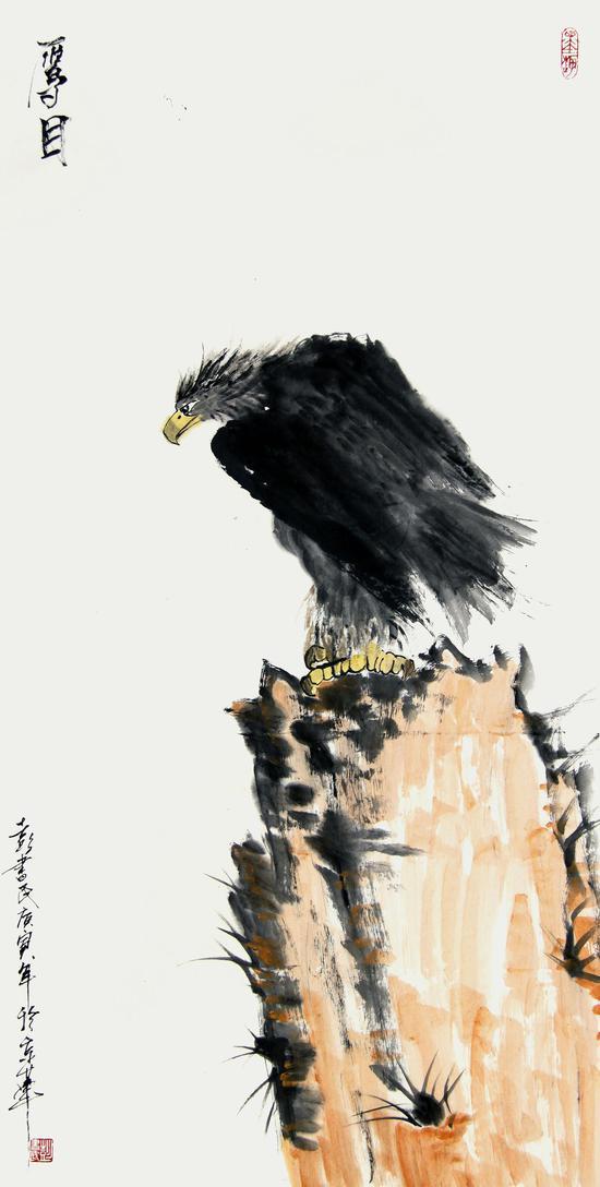 《鹰目》136×68cm