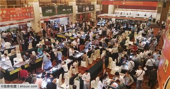 2017年北京国际钱币展销会现场