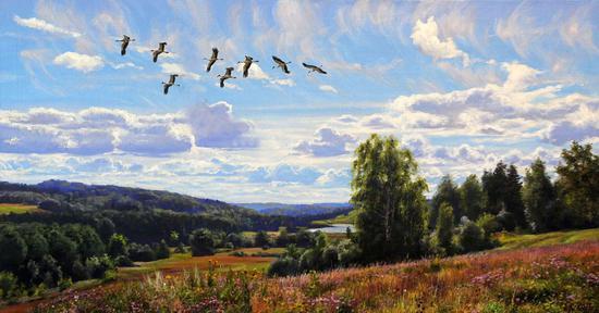 俄罗斯人民艺术家科尔涅耶夫代表作《在遥远的国度》