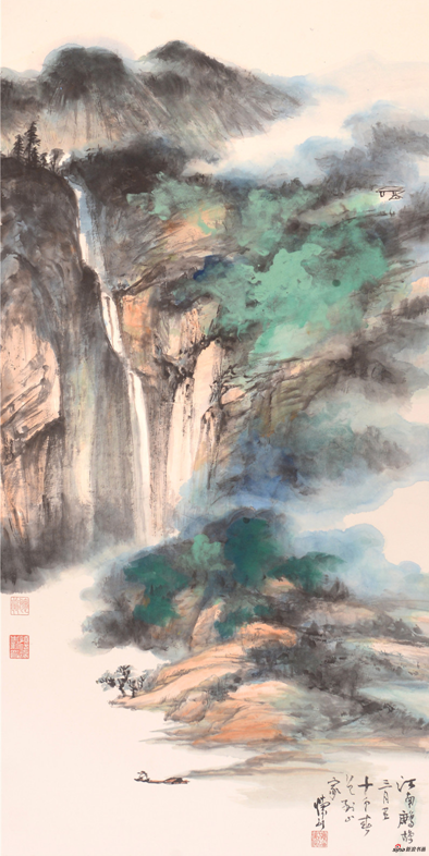 《江南鹧鸪三月里 十分春色到山家》137×68cm 2018年