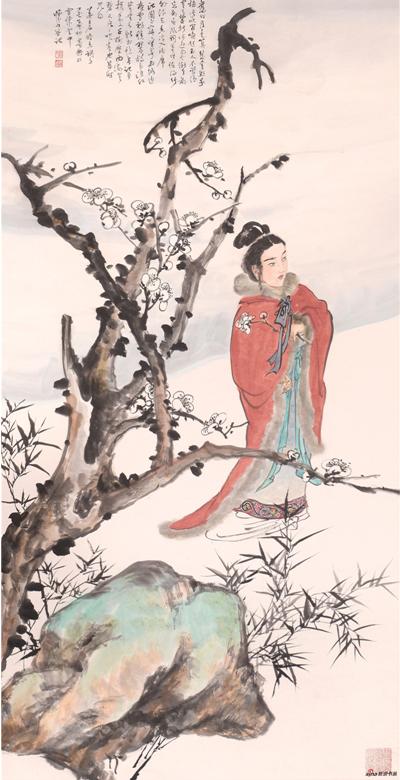 《姜白石暗香词意》137×68cm 2017年
