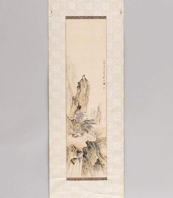 柳子谷(1901~1986) 坐听山音图   起拍价RMB:6,000   成交价RMB:143,000
