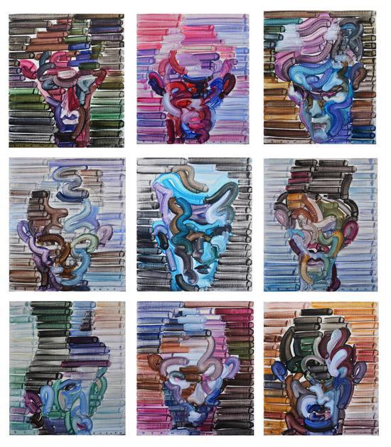 "江上越作品《擦肩而过的诱惑》168cm116cm 油画   EGAMI Etsu's work ""Temptation of brushing past"" 168cm 116cm Oil Painting"