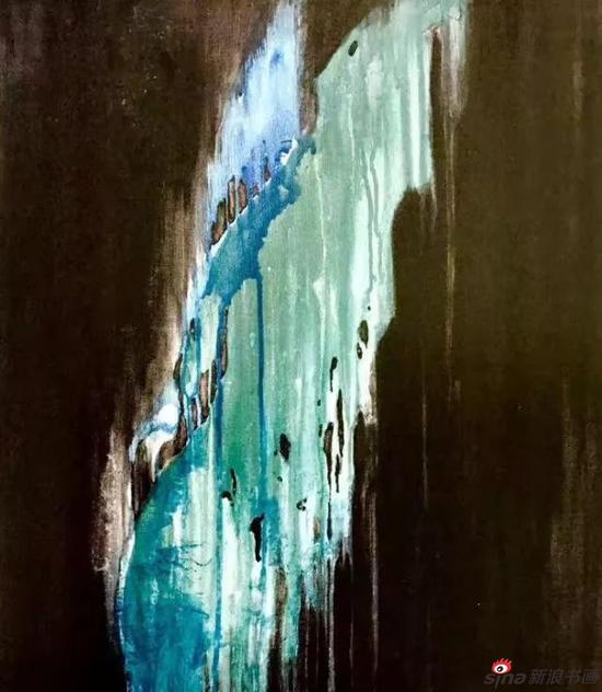 音乐油画《听民乐〈雨打芭蕉〉》