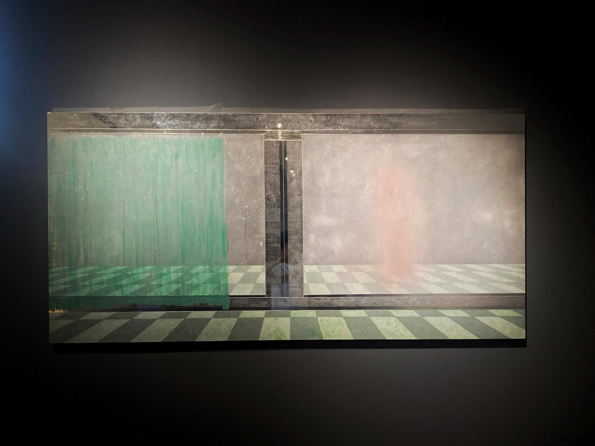 《镜像·1》 曾曦 镜面不锈钢、丙烯 112×234cm 2015