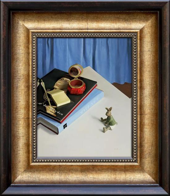 张健 限量签名版画《威登与镜子》(外框尺寸:38.5*33.5cm),市场价:¥388