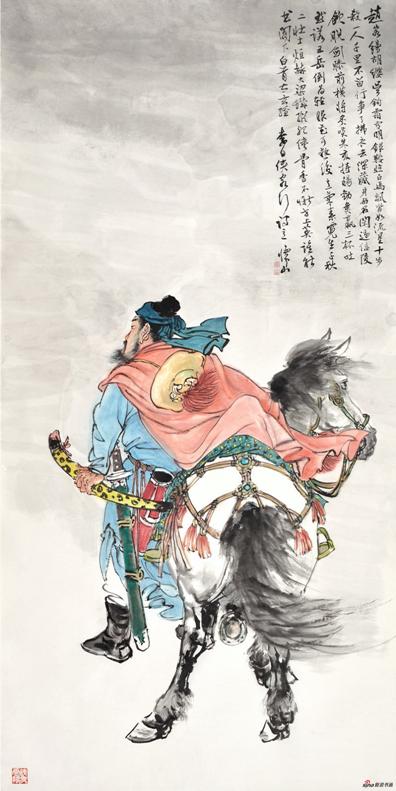 《李白侠客行诗意》137×69cm 2017年