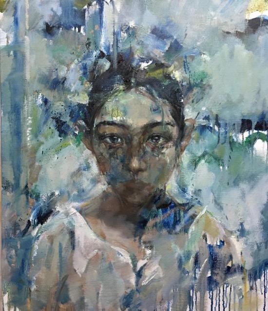 庄婕 无人知晓的我 布面油画 70×60cm 2017