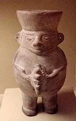 人型陶瓷雕像(秘鲁瓦里文化):公元500-1200