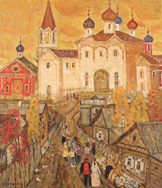 《教堂的婚禮》如瓦金 (俄羅斯)1970年 96X75cm