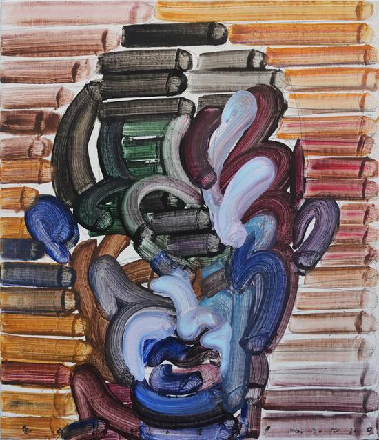 """江上越作品《擦肩而过的诱惑》EGAMI Etsu's work """"Temptation of brushing past""""   A new generation of post painting : EGAMI ETSU"""