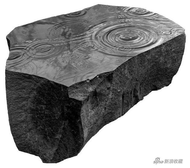《雨》,山西黑花岗岩,140×110×50cm,2017