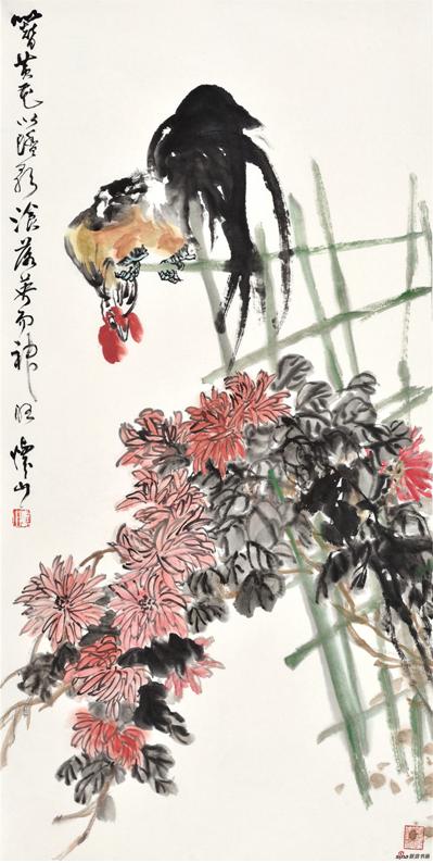 《簪黄花以踏影》137×69cm 2016年