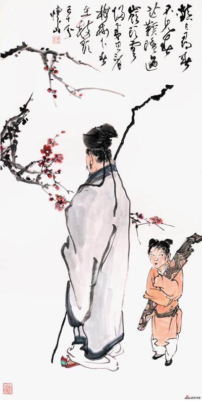 《终日寻春不见春》137×68cm 2018年