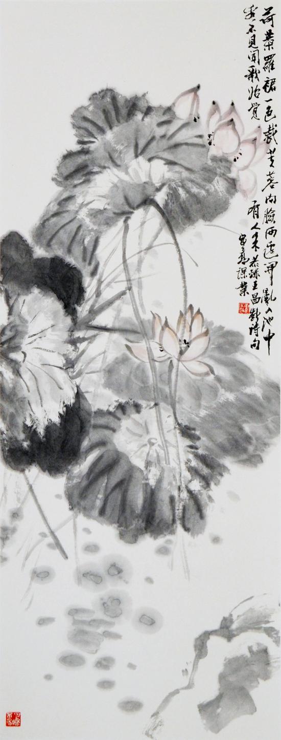 高进义《花卉四条屏》2018年 (3)