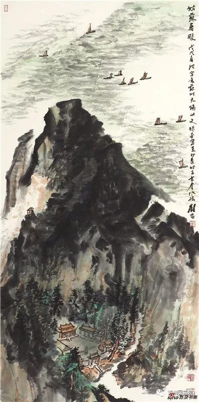 刘罡 姑苏春暖 136cm×68cm