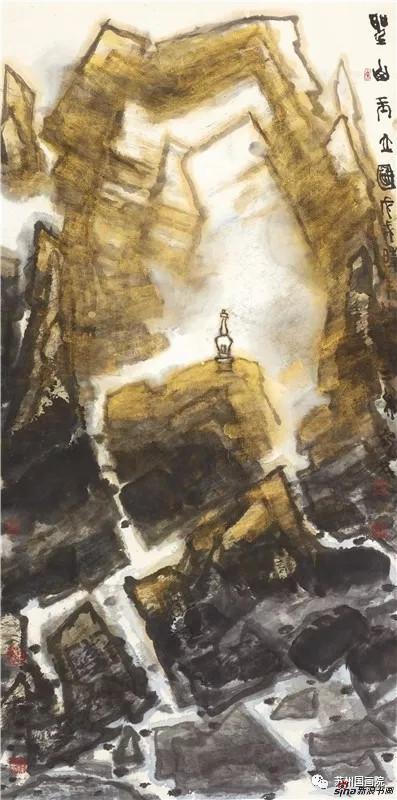 李宝林 圣山玉立图 136cm×68cm