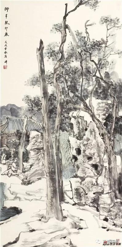 祁海峰 狮子林印象 136cm×68cm