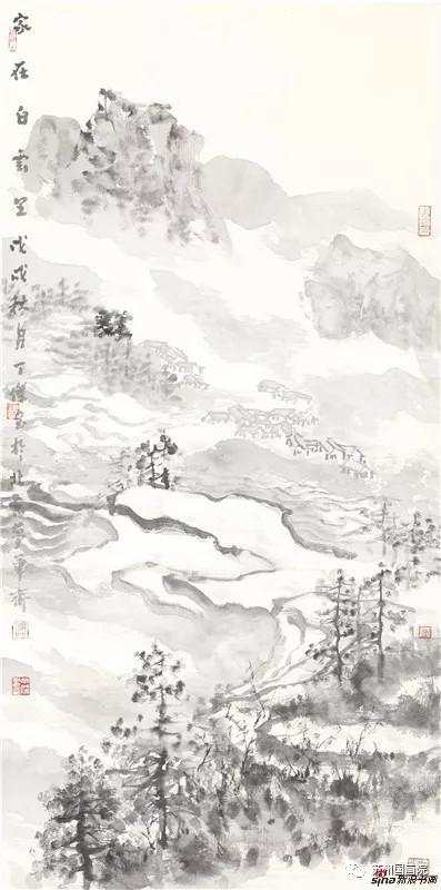 丁杰 家在白云里 136cm×68cm