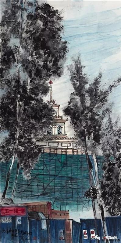 罗江 修缮中的云南美术馆 136cm×68cm
