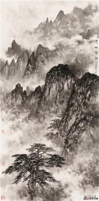 刘云 黄山云海 136cmx68cm