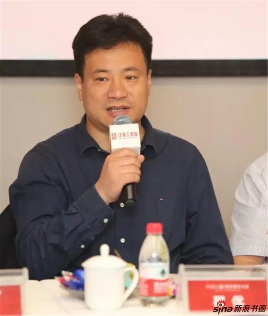 中国画学会理事、江苏省中国画学会副会长兼秘书长翟优发言