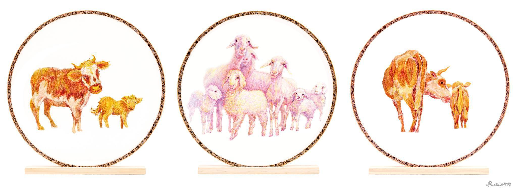 《你瞅啥系列》刺绣工艺 直径25cmX3 2019
