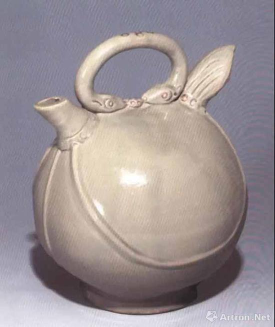 唐 越窑青瓷皮囊壶 高20.2厘米