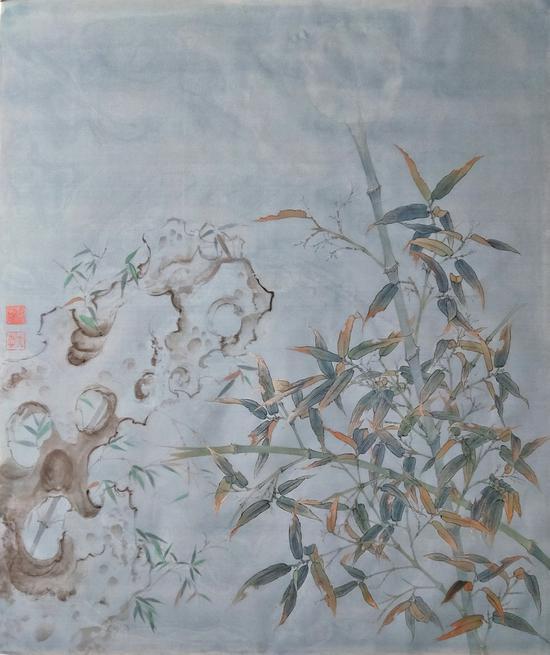 《暗香系列》之竹石