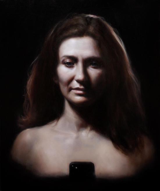 《麻木》布面油画,61 x 51 cm,2018