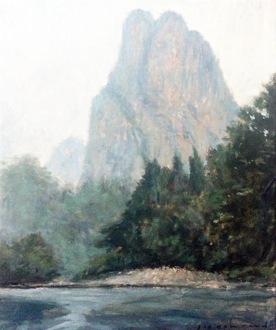 《石桅岩》 布面油画 65 X 54cm 2018年
