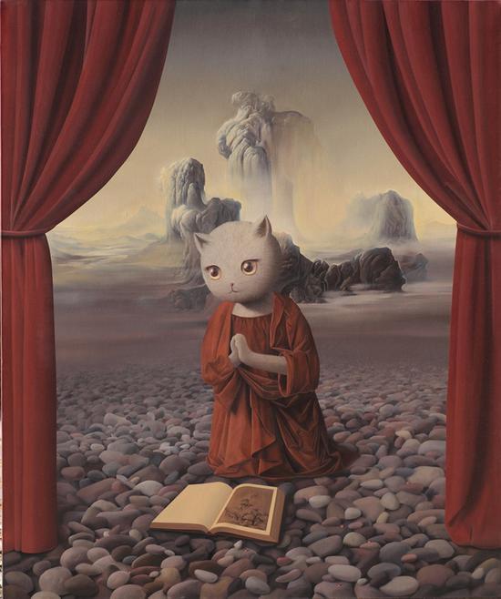 张凯 那心中的美丽 120×100 布面油画 2011