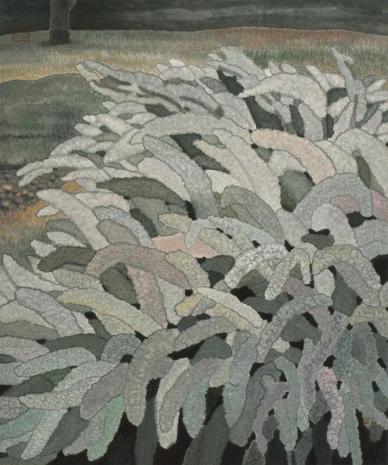 三月 67.9X57.9cm 2005 纸本设色