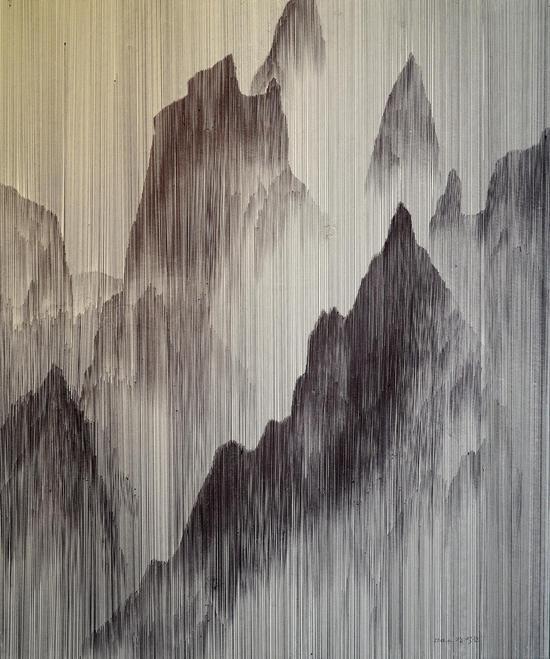 张伯淳(韩)《下雨天6173》纸,2018
