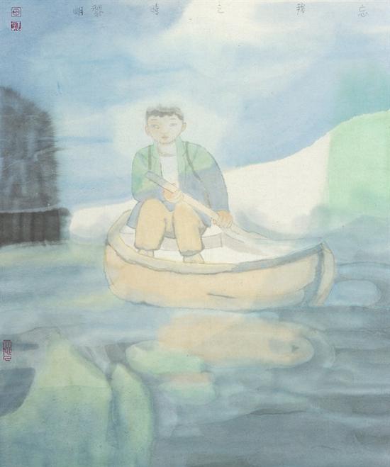 田黎明 《忘我之时》 纸本设色 54×46cm 2017