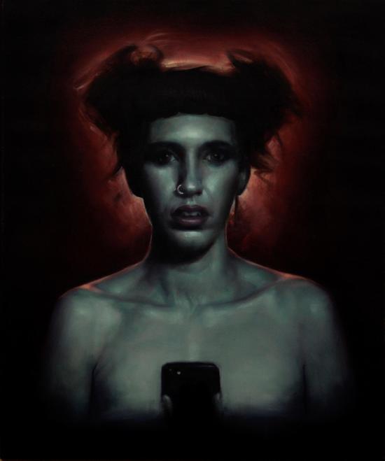 《所有权》布面油画,61 x 51 cm,2018