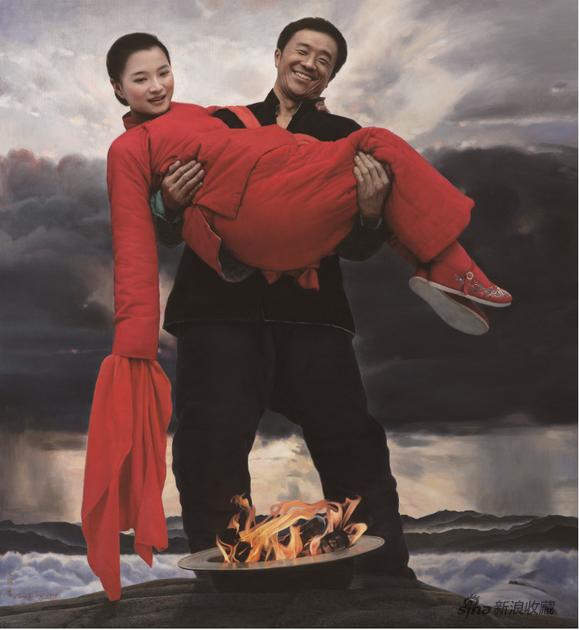 王沂东 蒙山儿女 布面油画 140×120cm 2019