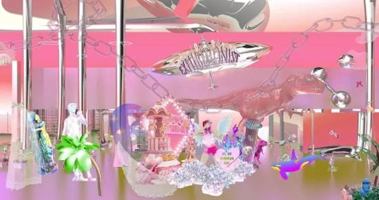 《秀一下癖:豆腐衣滤镜》(局部) 概括原料 画卷滥觞:叶甫纳工作室