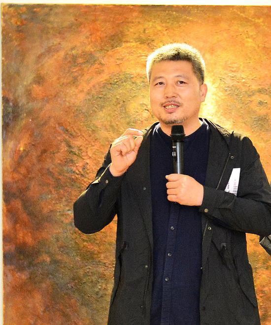 艺术家王振林先生发表讲话