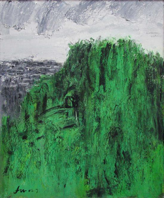 31《雨后》鲁邦林 80cm×65cm 布面油画 2002年
