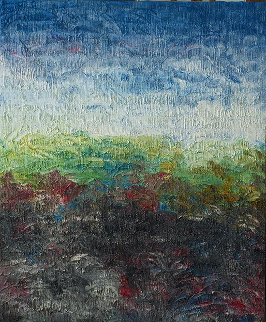 吕嵘作品《2016.09.13》180cm+150cn油画 创作年份2016.09.13