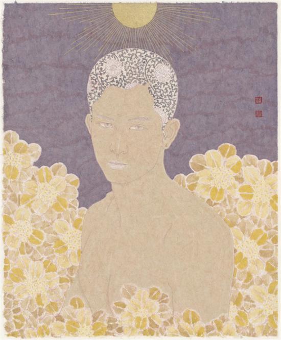 裸与和平之二-纸本设色-49x61cm-2016